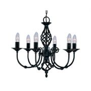 Zanzibar 6 Light Fitting in a Black Finish - SEARCHLIGHT 3379-6